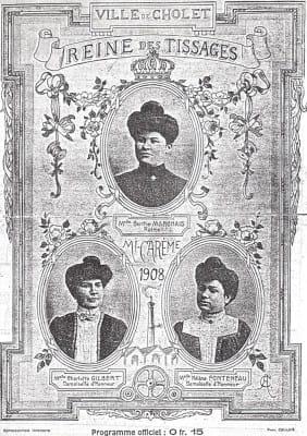 Mi-Carême de Cholet 1908 - Les Reines