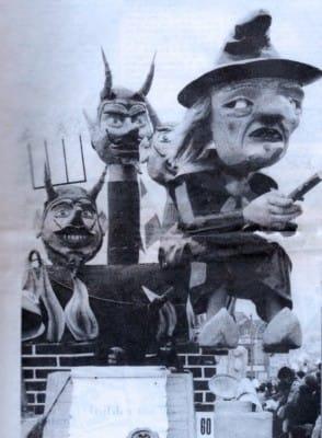 """Char """"Diableries"""" - Équipe Dominique Grolleau - Mi-Carême 1981 Cholet"""