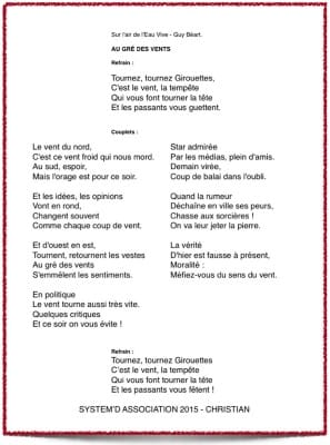 Tournez, Tournez Girouettes