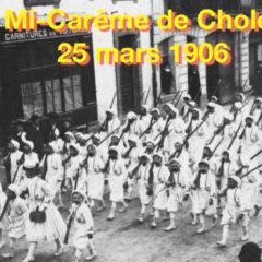 Cholet 1906 – Le défilé des Zouaves
