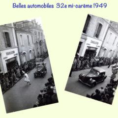 Automobiles en mi-carême 1949